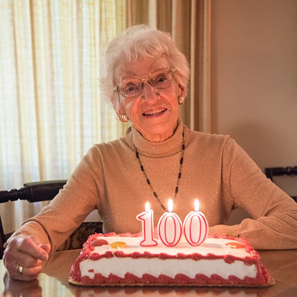 Ruth Colvin turns 100!